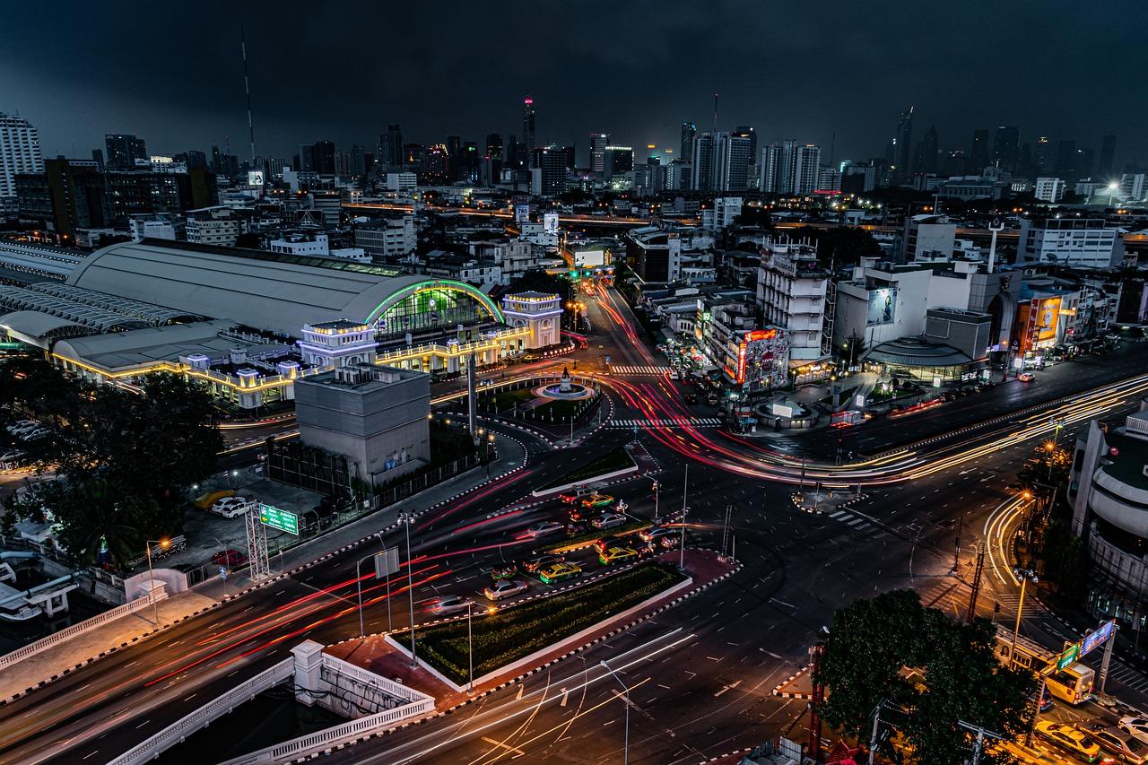 City Bangkok Night City Scape Tour Thailand