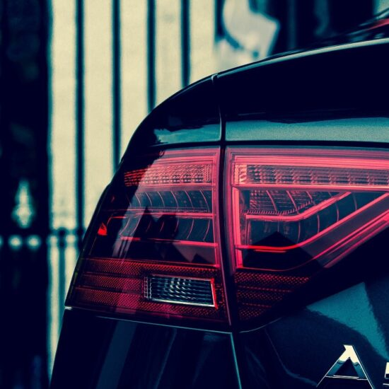 Auto Audi Car Tail Light Rear Car Rear Automotive