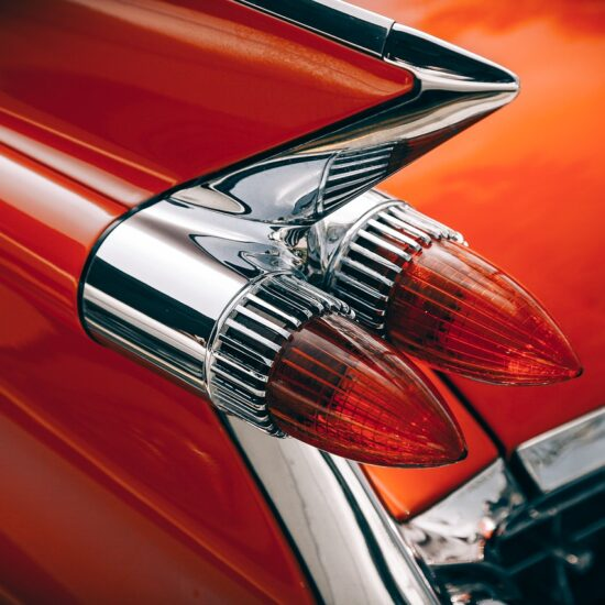 Car Classic Tail Lights Brake Lights Old Red Car
