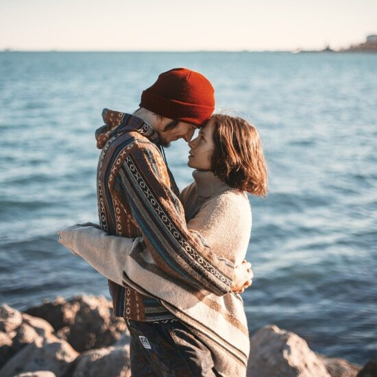 Couple Happy Man Love Romance Hug Look Woman