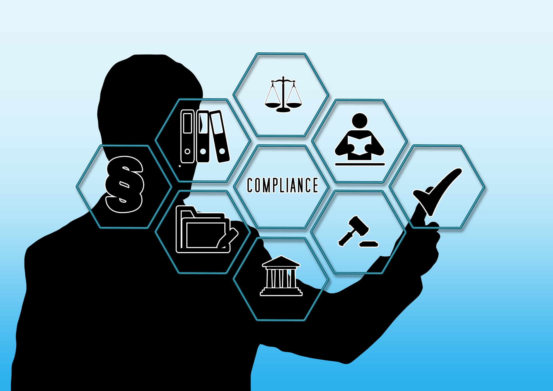 Man Check Mark Compliance Law Rule Finger Touch